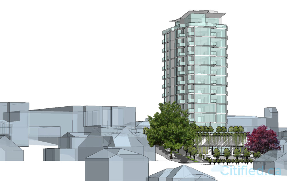 Highrise tower planned for site of Esquimalt's shuttered Super Low Food Market.jpg