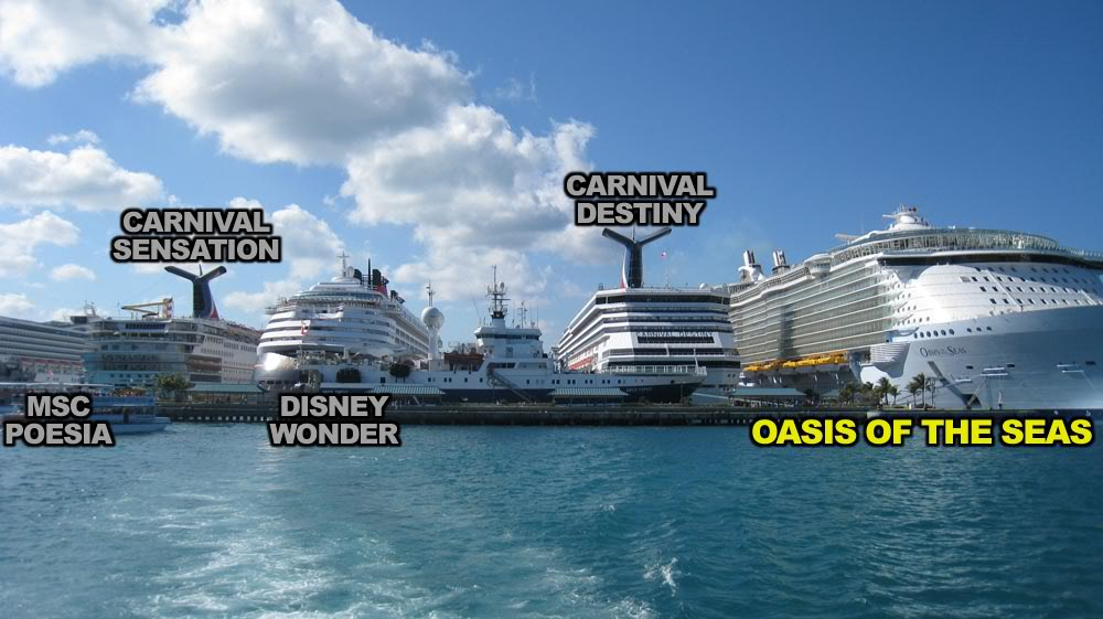 [Marine] Victoria cruise ship industry and Ogden Point ... Oasis Of The Seas Comparison